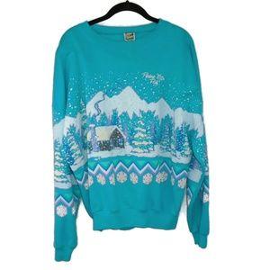 Vintage Pocono Mountains PA Sweat Shirt Blue OS